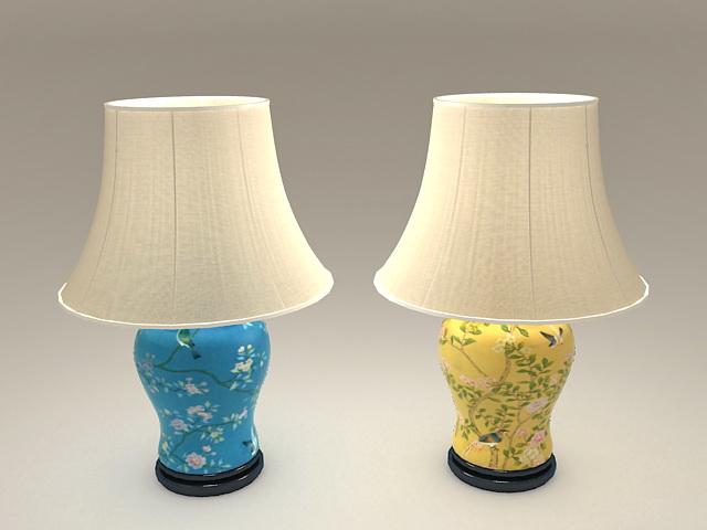 Ceramic Vase Table Lamps 3d model