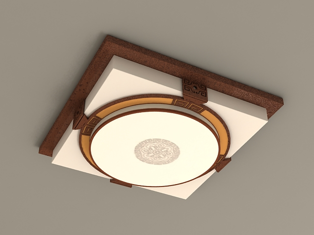 Japanese Style Ceiling Lights 3d model