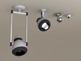 LED Ceiling Spotlights 3d model