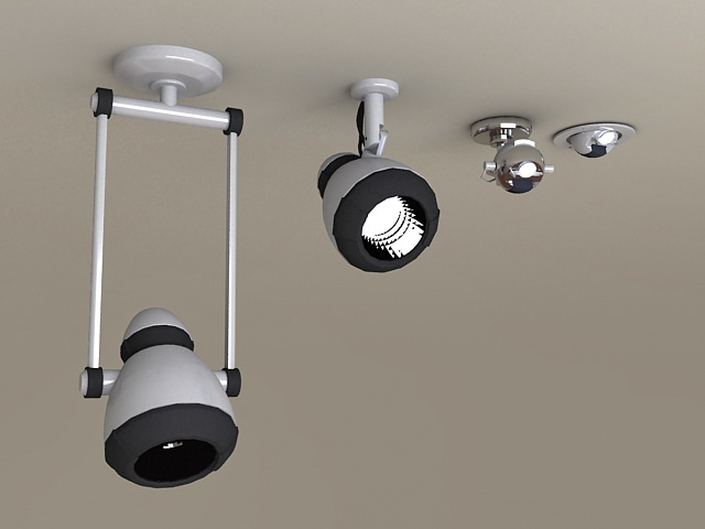 LED Ceiling Spotlights 3d model