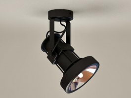 Single Ceiling Spotlights 3d model
