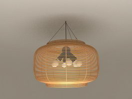 Rattan Pendant Light Fixtures 3d model