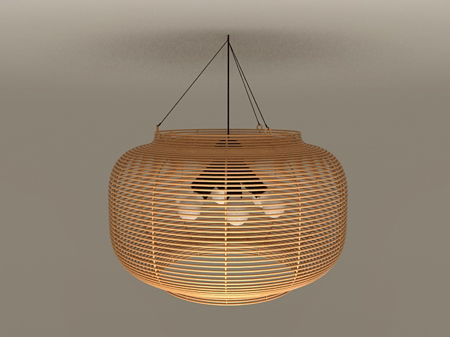 Rattan Pendant Light Fixtures 3d model 3ds Max files free download ...