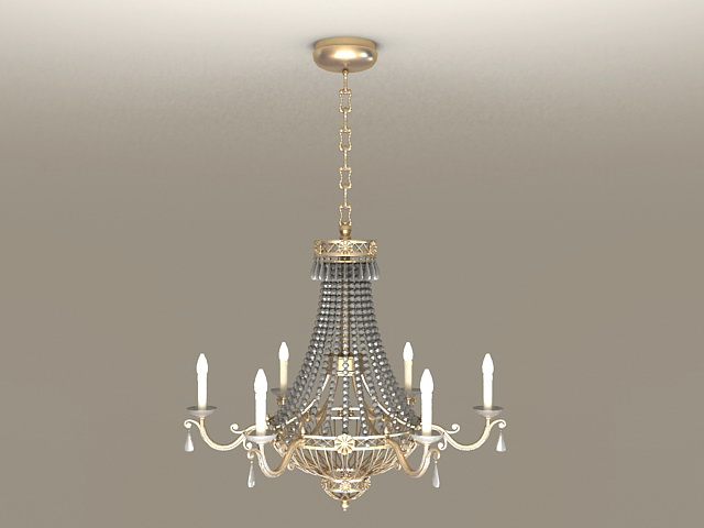 Crystal Empire Chandelier 3d model