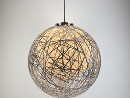 Wire Pendant Light 3d model