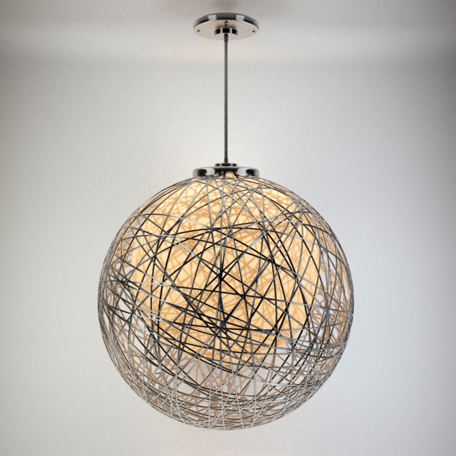 Wire Pendant Light 3d model