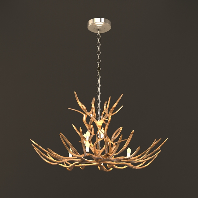 Rustic Tree Branch Chandeliers 3d Model 3ds Max Files Free