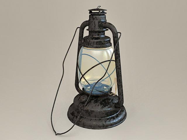 Antique Kerosene Lantern 3d model
