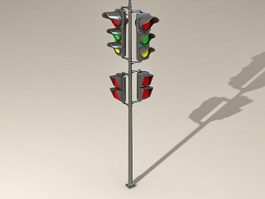 Street Traffic Lights 3d model