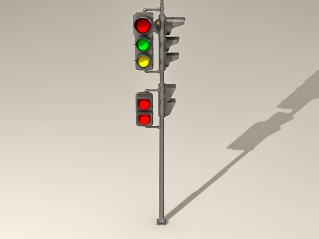 Street Traffic Lights 3d Model 3ds Max Files Free Download
