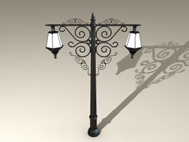 Old City Street Lights 3d model