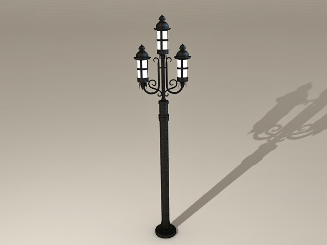 Old-Fashioned Street Lamps 3d model