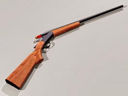 Winchester Model 1912 shotgun 3d model