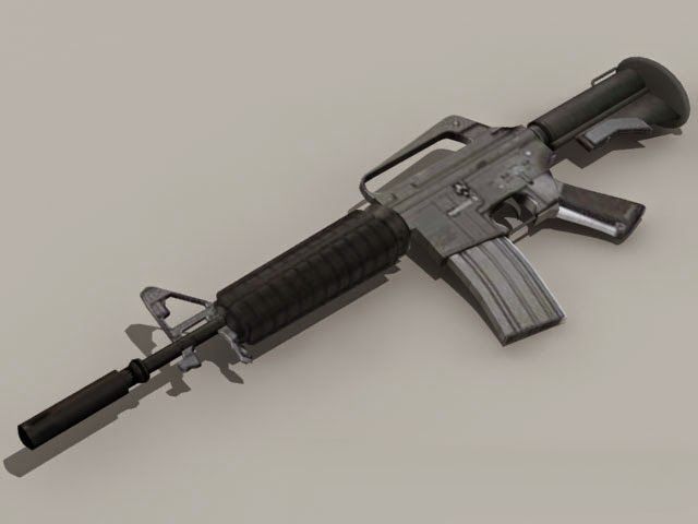 Military M16 Rifle 3d model