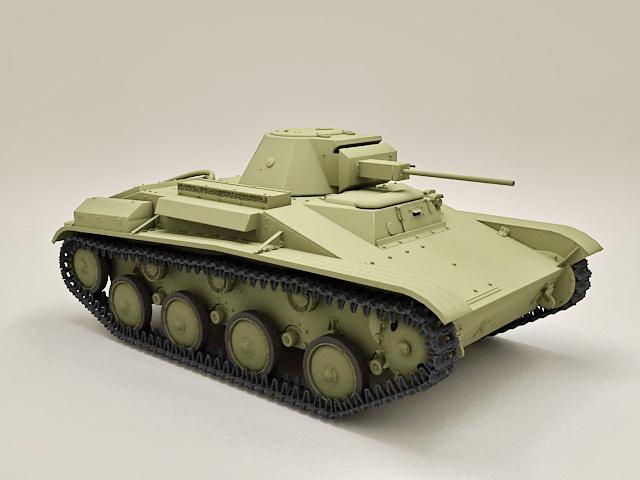 Russian T-60 Scout Tank 3d model