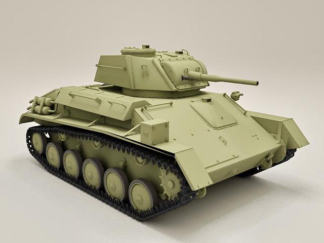 Russian T-80 Light Tank 3d model