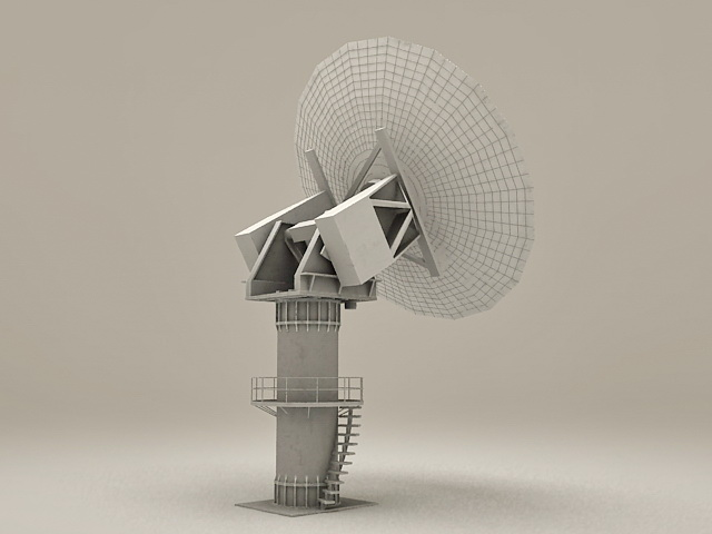 Military Radar Tower 3d model