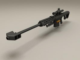 Barrett M107 Sniper Rifle 3d model