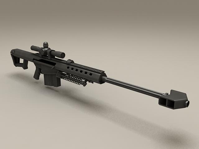 Barrett M107 Sniper Rifle 3d model