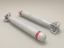 Torpedo bomber 3d model
