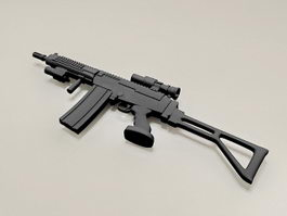 308 Semi Auto Rifle 3d model