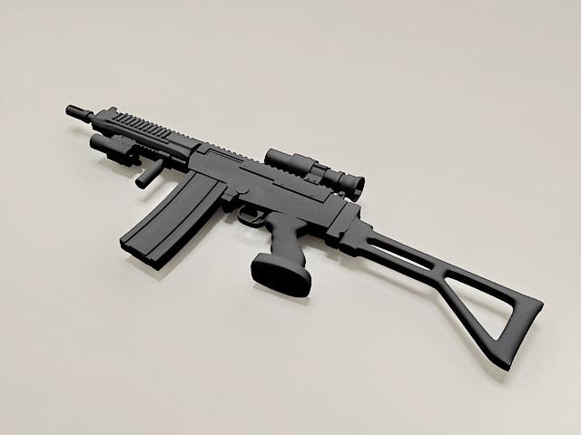 308 Semi Auto Rifle 3d model