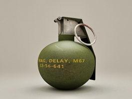 M67 Frag Grenade 3d model