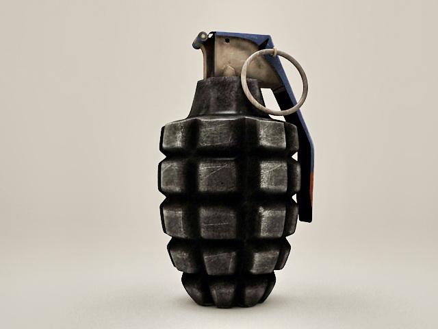Black Grenade 3d model