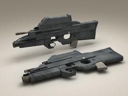 FS2000 Tactical Bullpup Rifle 3d model