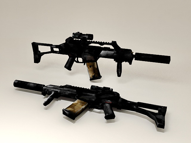 HK G36 Rifle 3d model