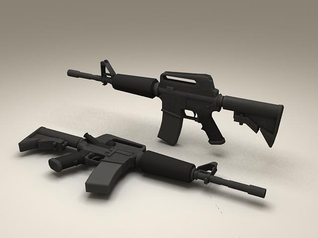 M4 Carbine Assault Rifle 3d model
