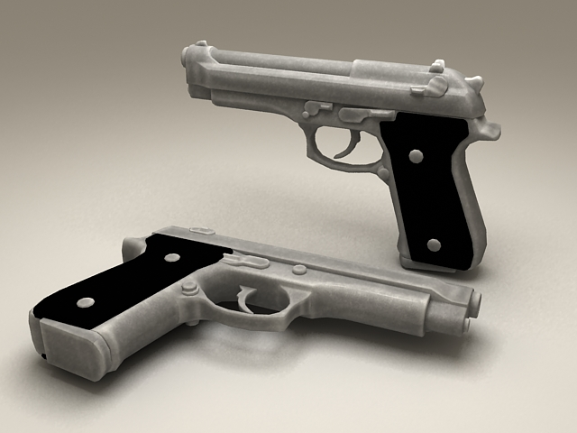Beretta 9Mm Pistol 3d model