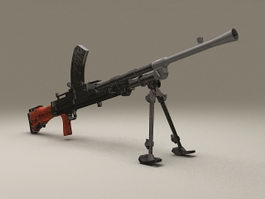 Bren Light Machine Gun 3d model