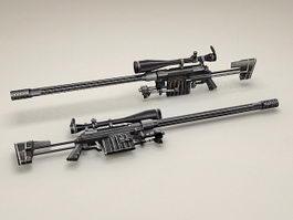 CheyTac Intervention M-200 rifle 3d model