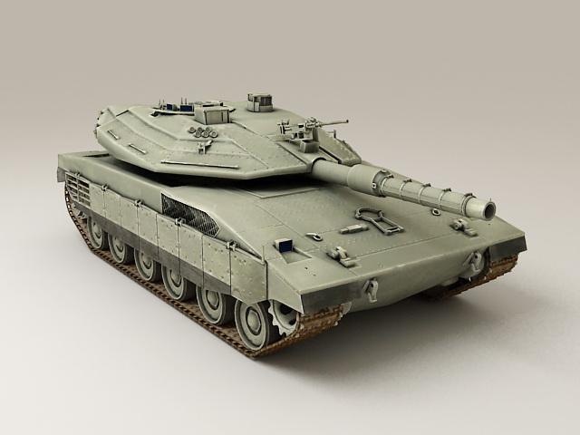 Israel Merkava Tank 3d model