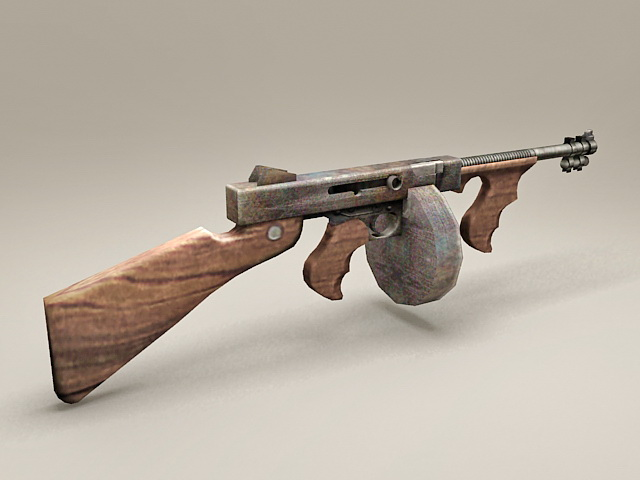 Vintage Russian Machine Gun 3d model