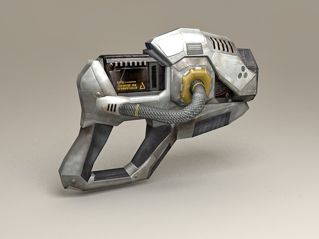 Sci-Fi Pistol Low Poly 3d model
