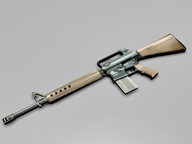 Armalite AR 10B Rifle 3d model