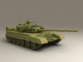 T80 Main Battle Tank 3d model