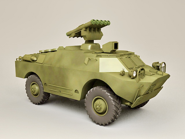 Russian BRDM Armoured Fighting Vehicle 3d model