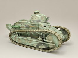 French Light Tank Renault FT 3d model