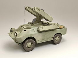 SA-9 Gaskin Mobile SAM System 3d model