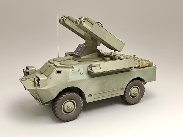 SA-9 Gaskin Mobile SAM System 3d model