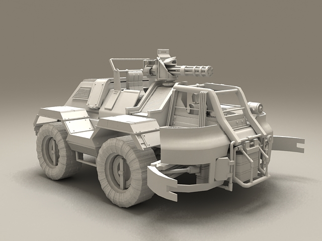 Wheeled fighting vehicle 3d model