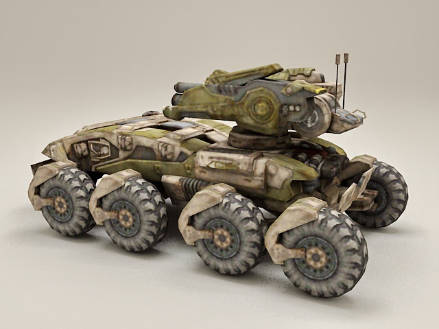 Sci-Fi Combat Vehicle 3d model