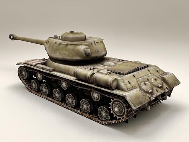 Russian Joseph Stalin 2 Tank 3d model