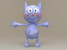 Cute Anime Cat 3d model