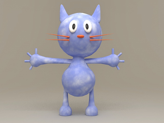 Cute Anime Cat 3d model