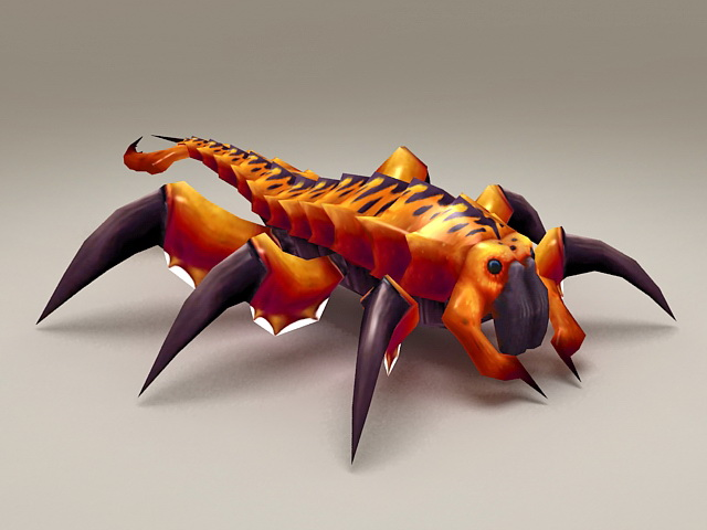Giant centipede monster 3d model 3ds max files free for Monster 3d model
