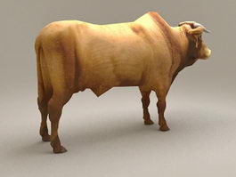 Brahman Bull Cattle 3d model
